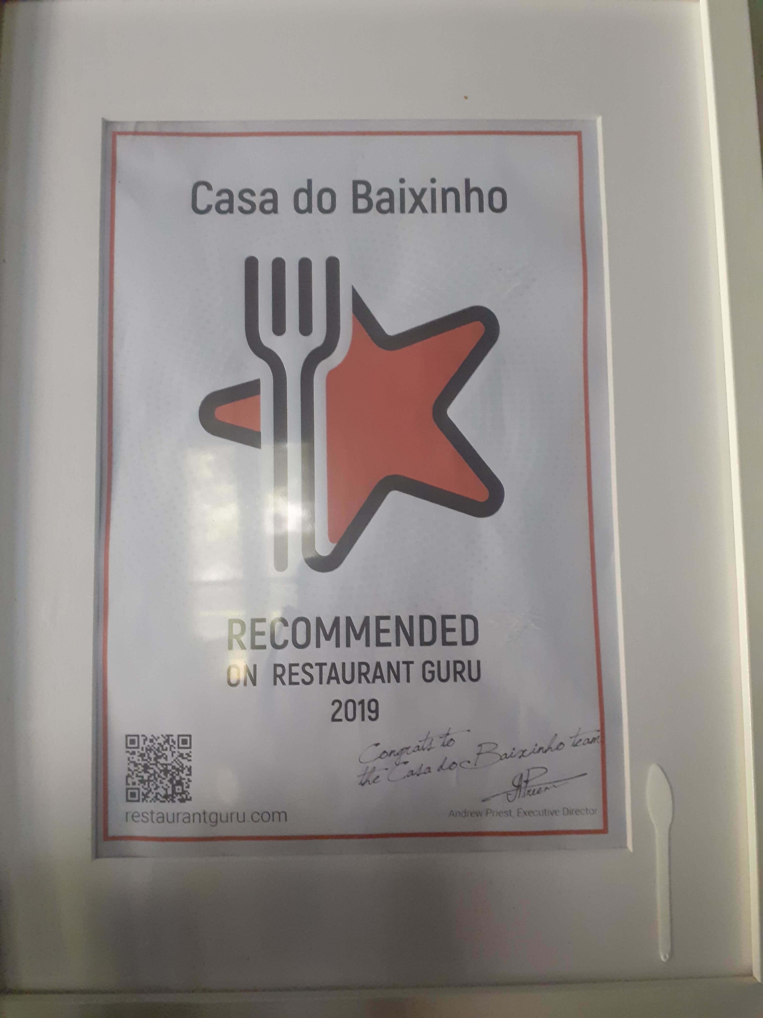 Casa Do Baixinho award