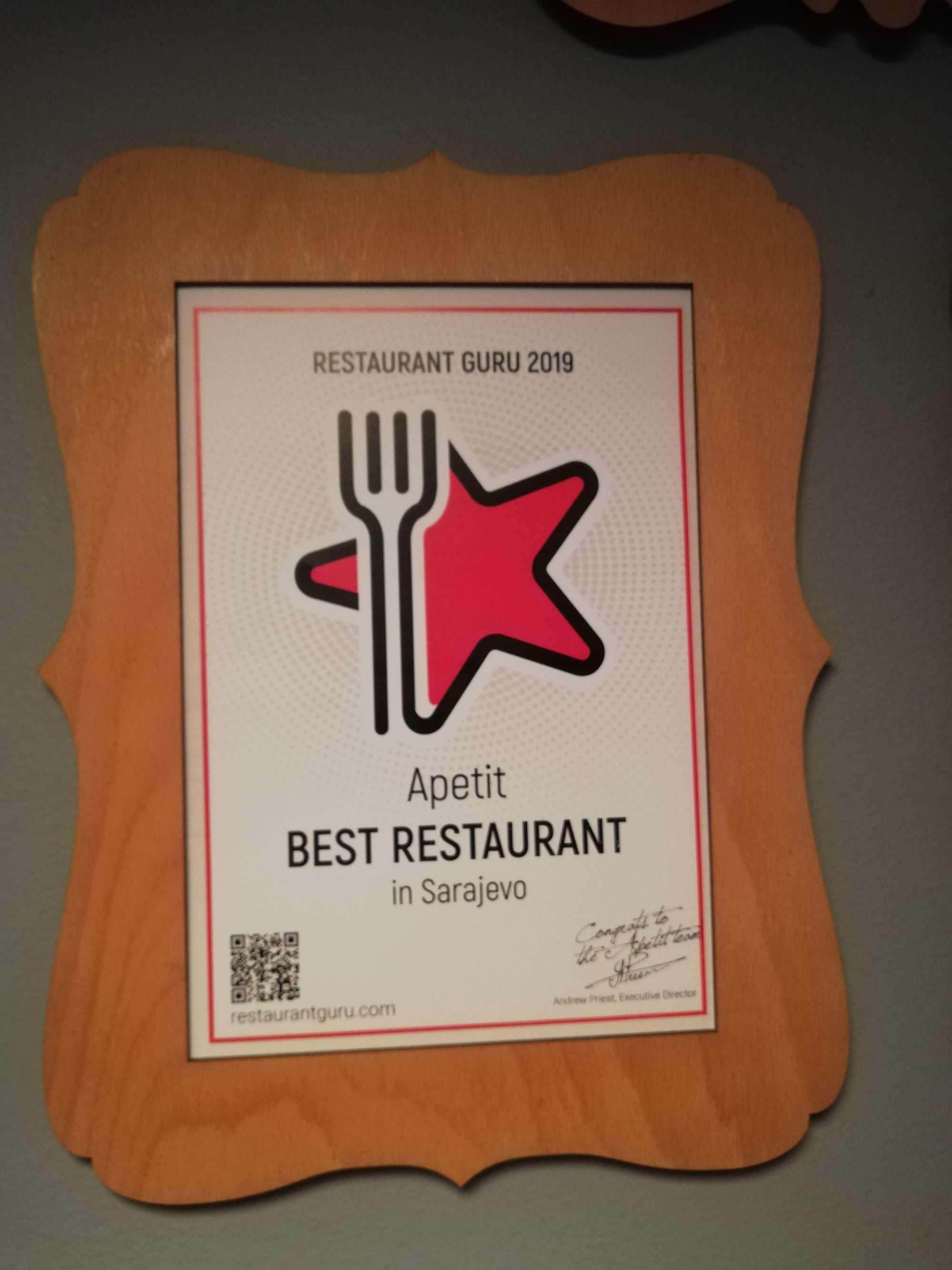 Apetit award