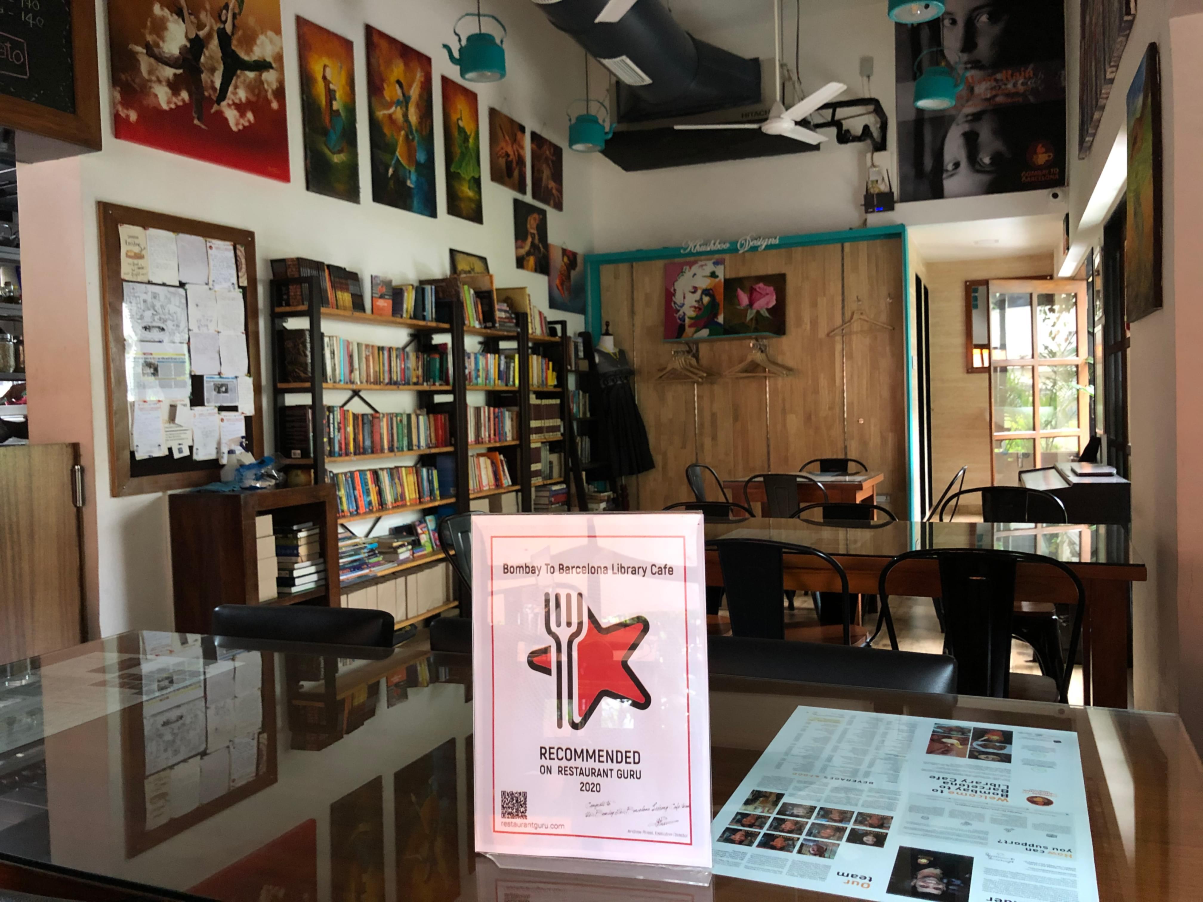 Bombay To Barcelona Library Cafe award