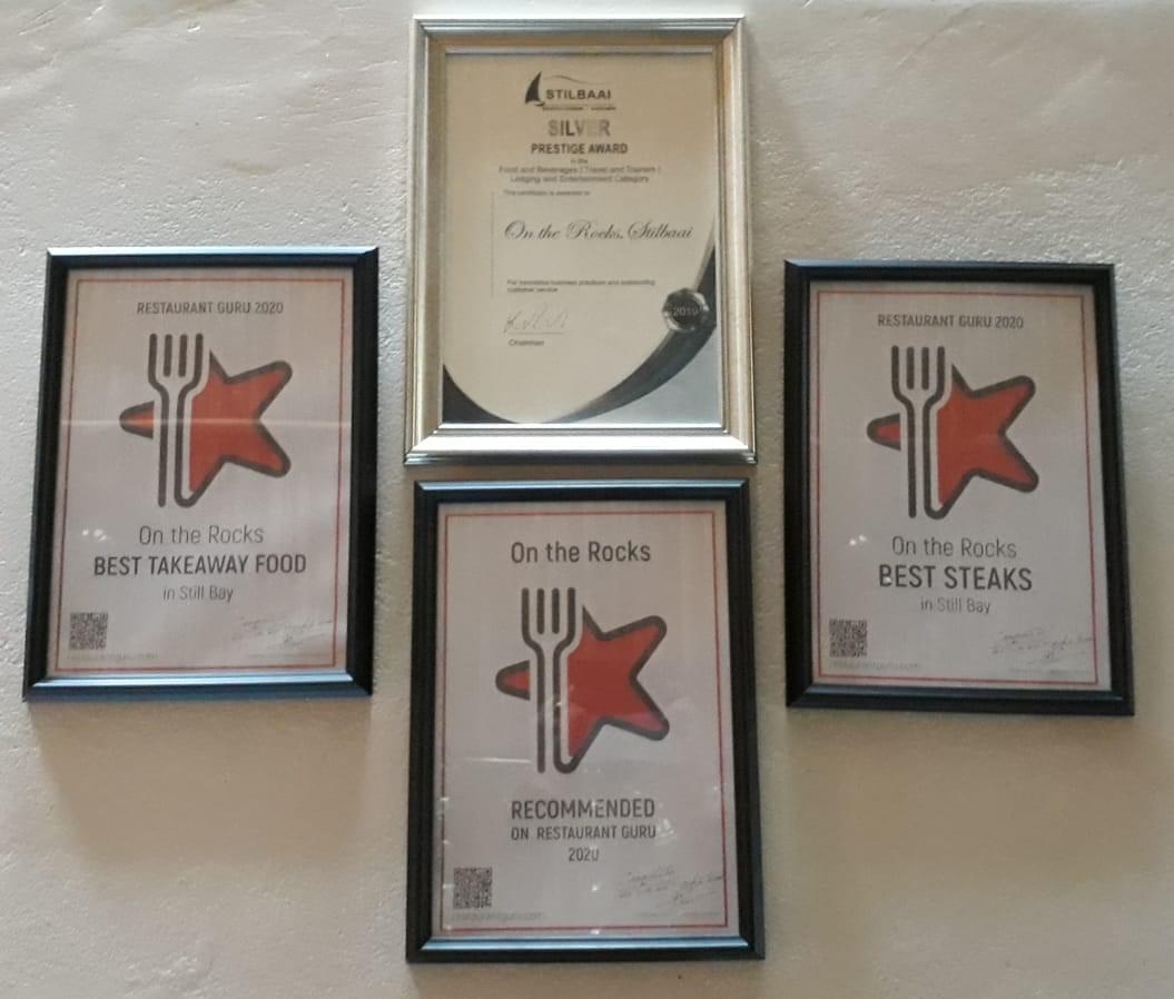On the Rocks Steakhouse & Sea Foods award
