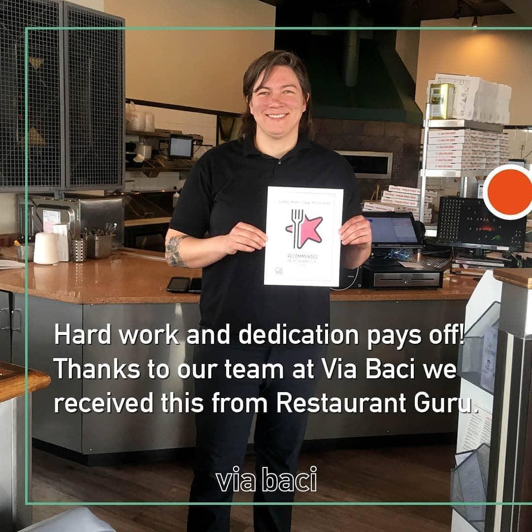 Via Baci Modern Italian Kitchen & Bar award